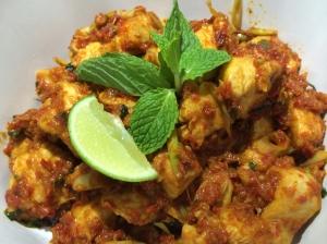 Stir Fried Spicy Chicken with Mint