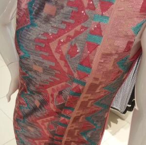 Flow Sleeveless Geo Sequinned Dress