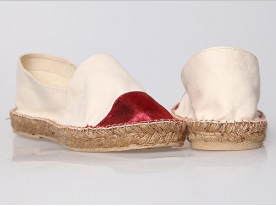 CIPELA Espadrilles - Cape Front Shoes in Red and Wheat