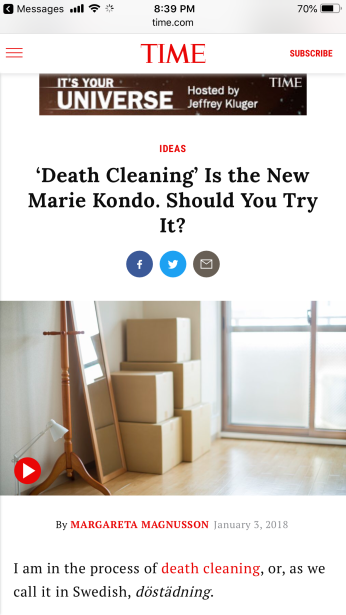 Death Cleaning 1